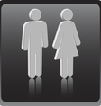 Man woman icon over gray background vector
