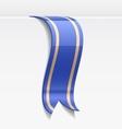 Blue bookmark decoration ribbon vector