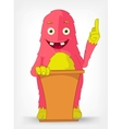 Funny monster presentation vector
