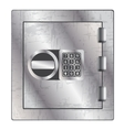 Metallic safe for storage of valuables vector