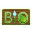 Bio green sign vector