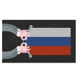Hand made flag of russia vector