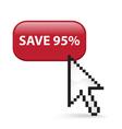 Save 95 button click vector