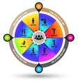 Circle wheel with icons number options template vector