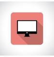 Computer display icon vector