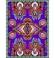 Violet colour ukrainian floral carpet design for vector