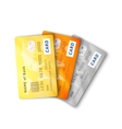 Set of detailed glossy credit cards with two sides vector