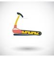 Icon trainer treadmill vector