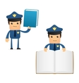 Policeman with books vector