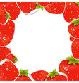 Label strawberry frame vector