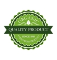 Organic label for farm fresh products vector