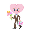 Heart as a man in love vector