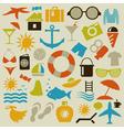 Beach an icon vector