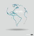 Modern globe drawing concept vector