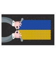 Hand made flag of ukraine vector