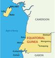 Republic of equatorial guinea - map vector