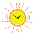 Clock in the sun two vector