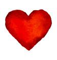 Red watercolor heart vector