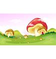 Big and small mushrooms vector