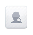 White search friend icon eps10 easy to edit vector