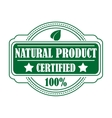 Guarantee label certifying a natural product vector
