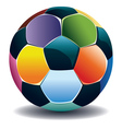 Colorful soccer ball vector