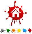 Home blot vector