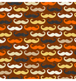 Retro seamless pattern with mustache vector