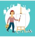 Painter draws vector