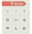 Beverages icon set vector