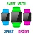 Smart design example sport wrist watch vector