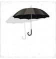 Classical umbrella on grunge background vector