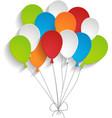 Bright paper balloons vector
