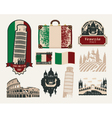 Trips to italy vector