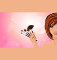 Make up background vector