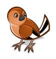 Cartoon bird one vector