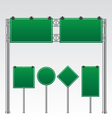 Road sign green vector