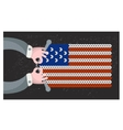 Hand made flag of the usa vector