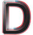 Abstract font letter d vector