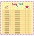 Baby chart for moms - colorful vector