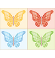 Bright beautiful butterflies of different colors g vector