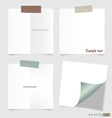 Set of various note papers vector