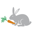 Rabbit holding a carrot vector