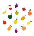 Fruit silhouettes vector