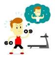 Man doing a workout routine to make a good shape vector