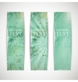 Set of azure banners with grunge cardboard texture vector
