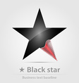 Black star business icon vector
