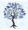 Tree with patch leaves vector