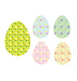 Easter painted eggs vector