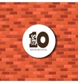 Red brick background texture eps 10 vector